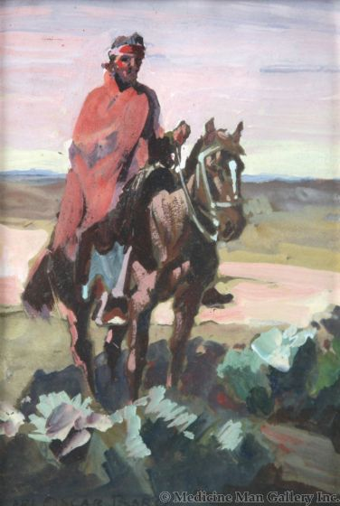 Carl Oscar Borg (1879-1947) - Navajo Rider