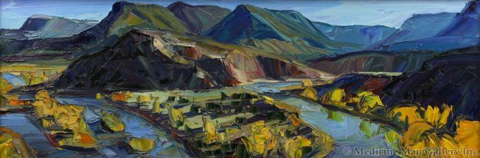 Louisa McElwain (1953-2013) - Chama River Meander