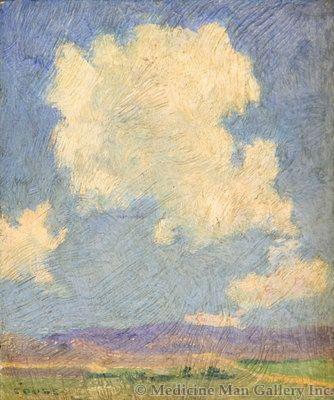SOLD E. I. Couse (1866-1936) - Untitled Landscape, Taos Mountain
