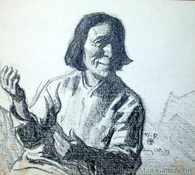 Maynard Dixon (1875-1946) - SOLD - Hopi Story Teller