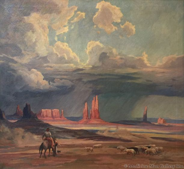 Carl Hoerman (1885-1955) - Corrals of Earth and Sky, Monument Valley