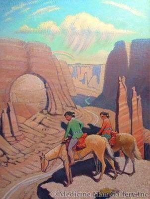 SOLD Ferdinand Burgdorff (1881-1975) - The Wayfarers