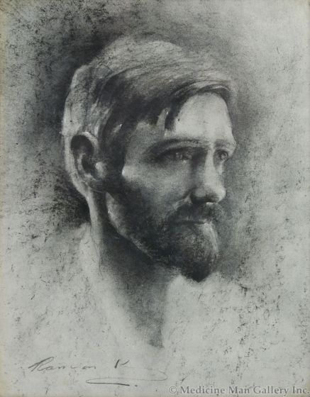 Ramon Kelley - Portrait of D. H. Lawrence (PLV91970-122-101)