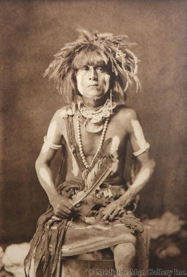 SOLD Edward S. Curtis (1868-1952) - Honovi - Walpi Snake Priest, with Totokya Day Painting