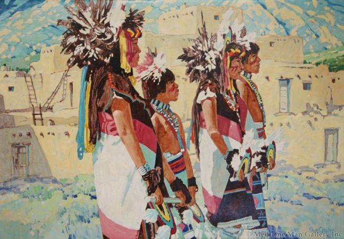 SOLD Ross Stefan (1934-1999) - The Rainbow Dancers