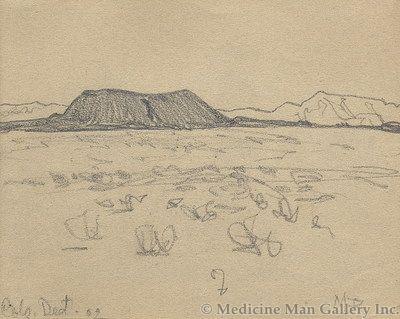 Maynard Dixon (1875-1946) - SOLD - Colorado Desert 1902