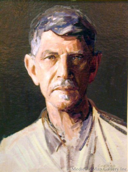 SOLD Conrad Buff (1886-1975) - Self Portrait