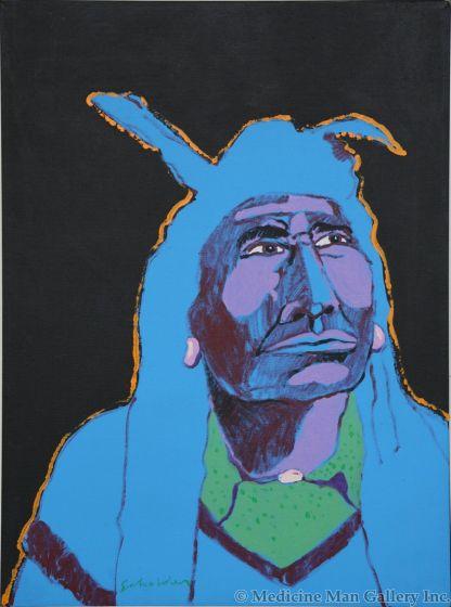 SOLD Fritz Scholder (1937-2005) - Night Indian