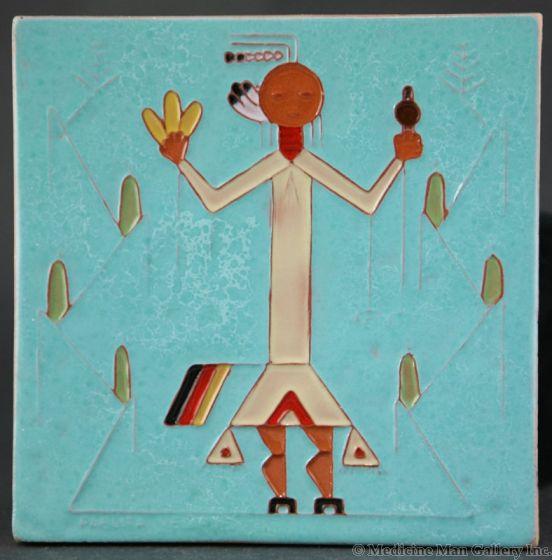 SOLD Pablita Velarde (1918-2006) - Native American Tile