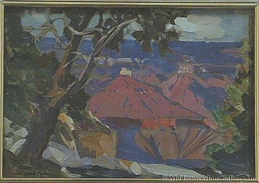 SOLD Carl Oscar Borg (1879-1947) - Grand Canyon