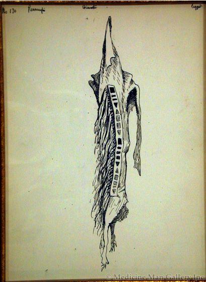 "SOLD Frederic Remington (1861-1909) - Legging - Illustration for ""The Song of Hiawatha"""