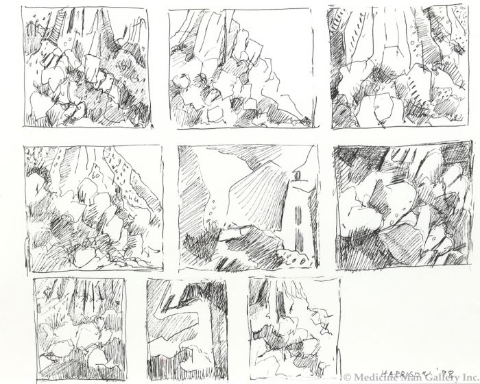Myrna Harrison (b. 1932) - Rockfall - Studies (PLV91454-1020-004)