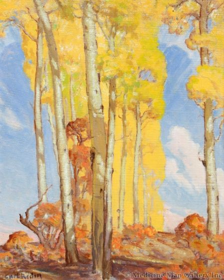SOLD Carl Redin (1892-1944) - Aspens in Fall