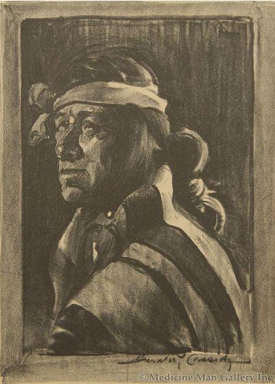 SOLD Gerald Cassidy (1879-1939) - Petacio of Santo Domingo, N.M.