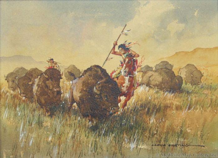 SOLD Lloyd Harting (1901-1974) - Buffalo Stampede
