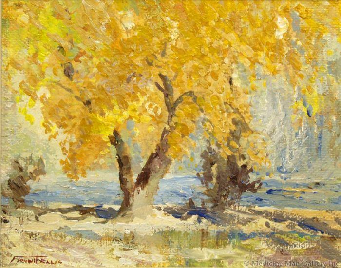 SOLD Fremont Ellis (1897-1985) - Cottonwood on the Rio Grande