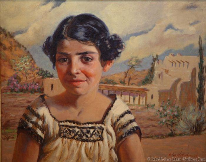 Odon Hullenkremer (1888-1978) - Santa Fe Girl (PDC90223A-107-101)