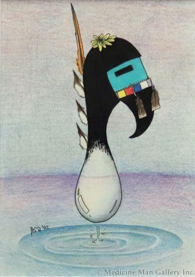 Blair Quamehongewa - Hopi Kachina Mana Water Prayer (M1789)