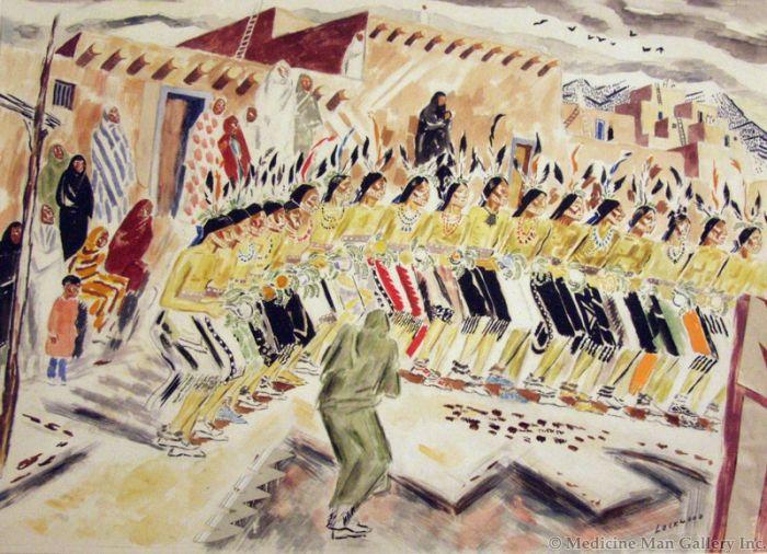 SOLD John Ward Lockwood (1894-1963) - Pueblo Dancers
