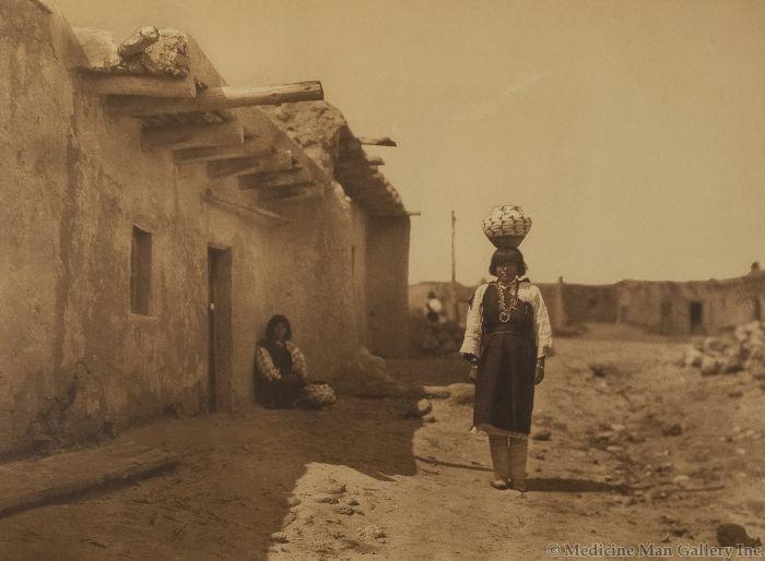 Edward S. Curtis (1868-1952) - Sia Street Scene
