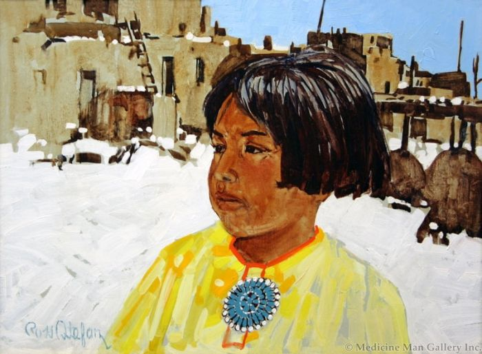 SOLD Ross Stefan (1934-1999) - Child of the First Snow
