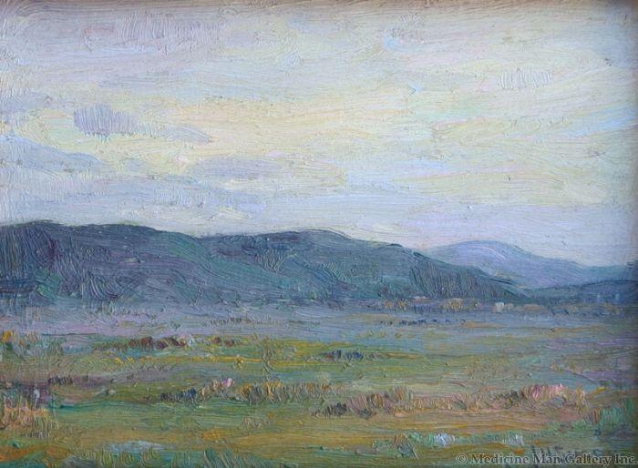 SOLD Jopeph Henry Sharp (1853-1959) - Taos Landscape