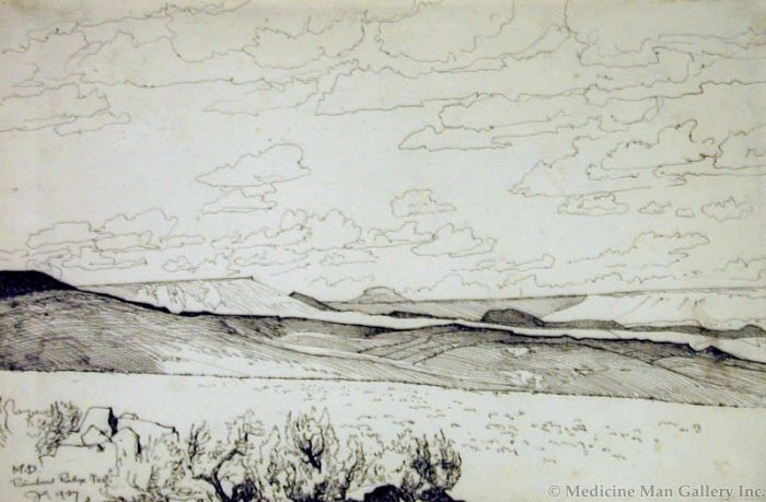 Maynard Dixon (1875-1946) - SOLD - Rainbow Ridge, NV