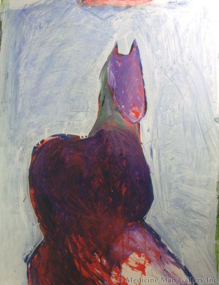 SOLD Fritz Scholder (1937-2005) - Dream Horse B