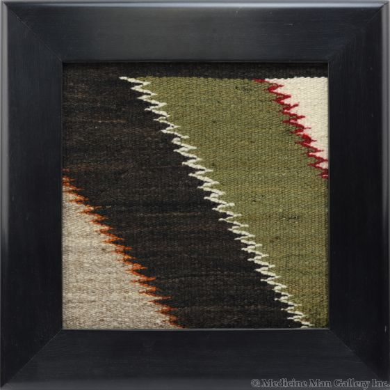 Kevin Irvin - Window with Navajo Red Mesa Textile Inlay c. 1920s (T91924-0120-001)