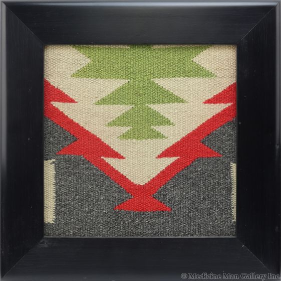 Kevin Irvin - Window with Navajo Germantown Textile Inlay c. 1890s (F91924-0120-002)