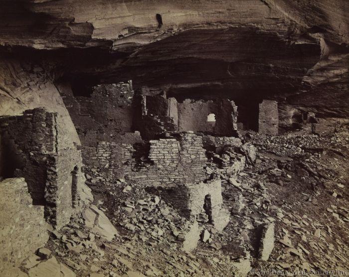 Ben Wittick (1845-1903) - Prehistoric Ruins of Cañon De Chelly, Interior of Mummy Cave