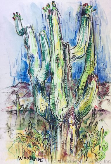 James Woodside - Saguaro Near Sabino