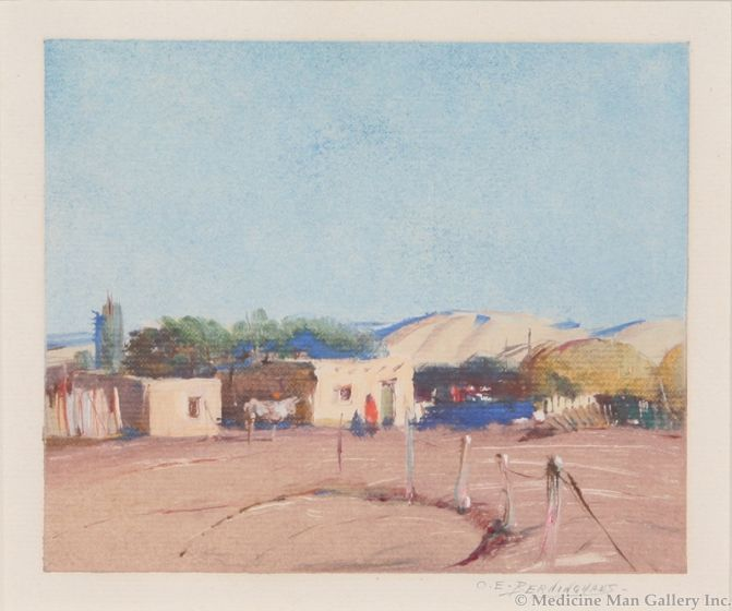SOLD O.E. Berninghaus (1874-1952) - Untitled (Taos Home)