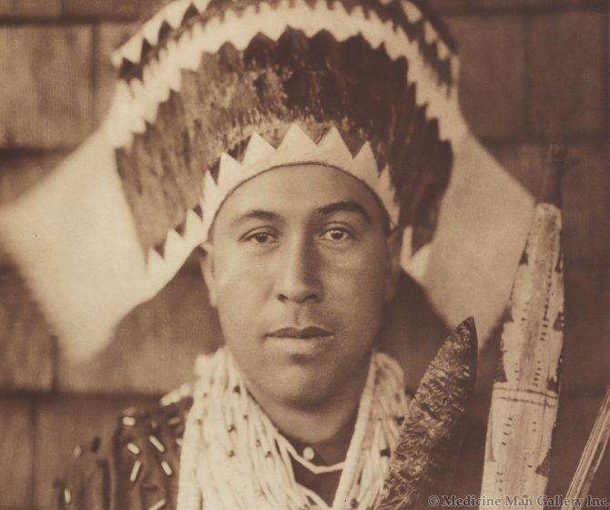 Edward S. Curtis (1868-1952) - Tolowa Dancing Headdress