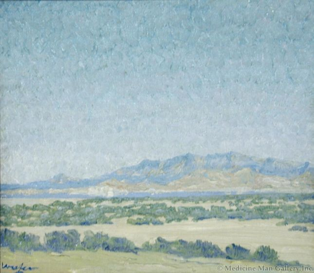 SOLD Walter Ufer (1876-1936) - Sage and Mountains Mojave Desert