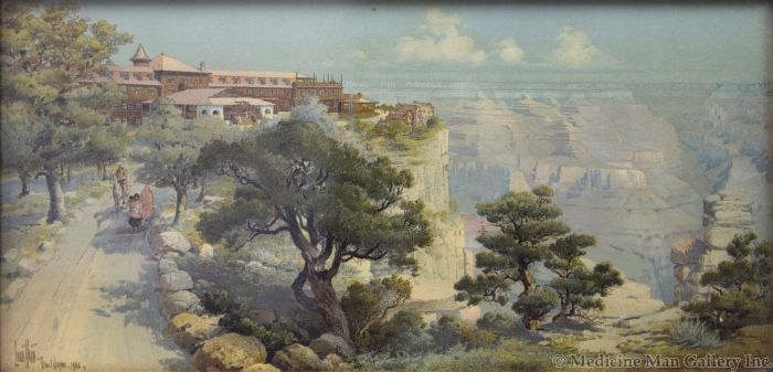 Louis Akin (1868-1913) - El Tovar - Grand Canyon