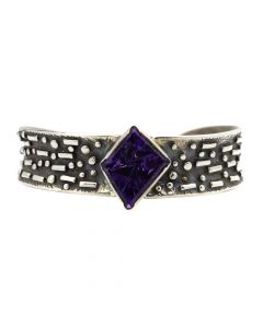 Sam Patania - Amethyst and Silver Bracelet, size 6.5 (J91699-0520-005)