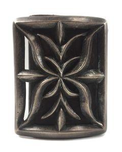 """Navajo Silver Sandcast Ketoh c. 1920s, 3.625"""" x 2.875"""" (J7370)"""