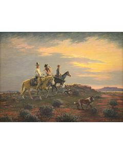 Lloyd Mitchell (1909-1978) - The Range Riders