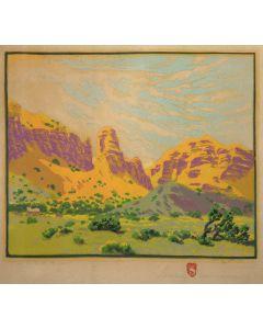 SOLD Gustave Baumann (1881-1971) - Malapai