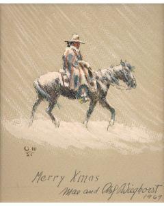 Olaf Wieghorst (1899-1988) - Merry Xmas Barry Goldwater