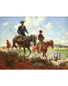 Robert Meyers (1919-1970) - Working the Farm