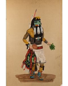 Paul Talawepi (1920-2008) - Long-Haired Kachina