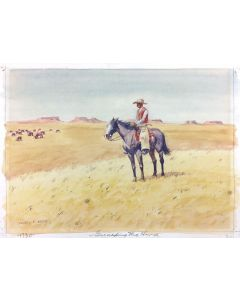 Leonard H. Reedy (1899-1956) -  Guarding the Herd