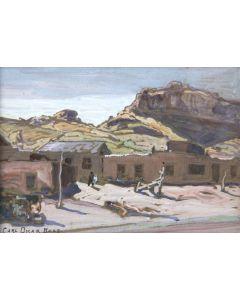 Carl Oscar Borg (1879-1947) - Navajo Trading Post