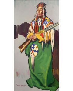 John Moyers - Blackfeet Man with Henry Rifle