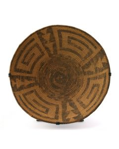 "Pima Basket with Geometric Design c. 1890s, 6"" x 15.5"" (SK2025)"