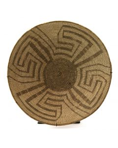 "Pima Basket with Whirling Logs Design c. 1900s, 5"" x 19"" (SK92306A-1116-001)"