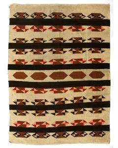 """Navajo Crystal Rug c. 1930-40s, 77.5"""" x 58"""" (T4113)"""
