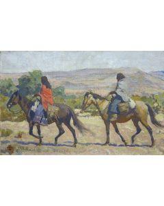 Maynard Dixon (1875-1946) - Apache Women, Rice, Ariz.